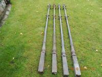 Clothes Poles - Matching set of 4 CAST IRON Poles.
