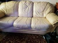 Leather settee