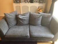 Three Seater/Two Seater Crushed Velvet Sofas