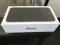 Apple iPhone 7 Plus 256gb, black matte, SEALED IN BOX, unlocked.
