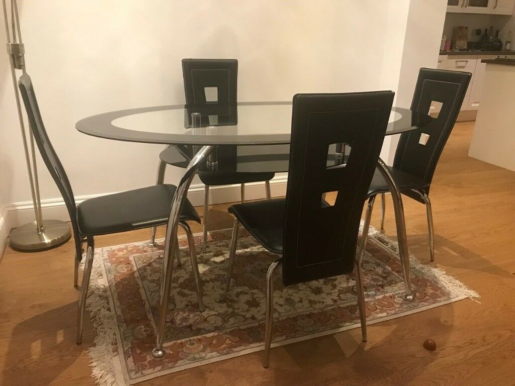 PRICE REDUCED Dining Table Chairs Coffee Table Tempered - Coffee table with 4 chairs