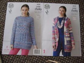 3 knitting patterns for super chunky yarn