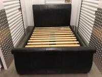 LEATHER DOUBLE BED. Free delivery!!!