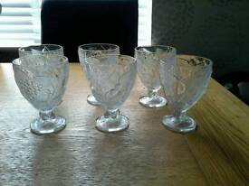 Crystal footed trifle bowls
