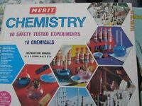 2 Vintage Merit Chemistry Experiment sets from the 70's.