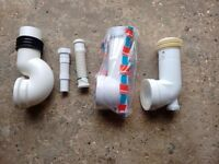 Various plastic waste fittings