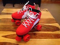 Rio Roller Pure Quad Skates - Red/White - Size - UK 6 (EUR 39.5)