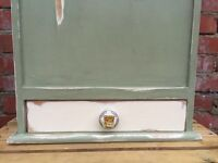 **SHABBY CHIC FRENCH PINE BAGUETTE BOX- VINTAGE STYLE- CHALK PAINT & WAX- nice display item **