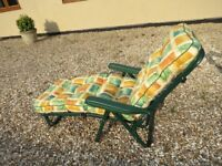 Multi-Position Sun Longer / Reclining Garden Chair with cushion – Excellent condition