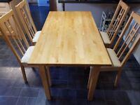 Ikea Kitchen Table & 4 Chairs