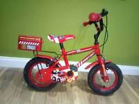 Boys bike fire chief red