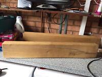 Solid Oak Mantel Shelf x 2
