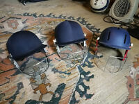 Three Kids Cricket Helmets in Great Condition