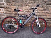 "New Boss Dominator 26"" Adults Full Suspension Mountain Bike Disc RRP £379"