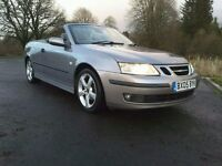 CONVERTIBLE SAAB 9.3 VECTOR 1.8 TURBO, 2005. 93,000 MILES WITH HISTORY. TEL BRENDAN 07985739678.