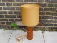 FREE DELIVERY Retro Teak Table Lamp Vintage Mid Century Furniture
