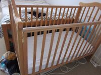 Cosatto drop side cot with John Lewis Spring Cot Mattress