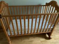 Bargain price cot and mattress