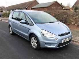 2007 Ford S Max 1.8 TDCi Zetec Diesel 7 Seater Manual MPV 7 Seater Blue