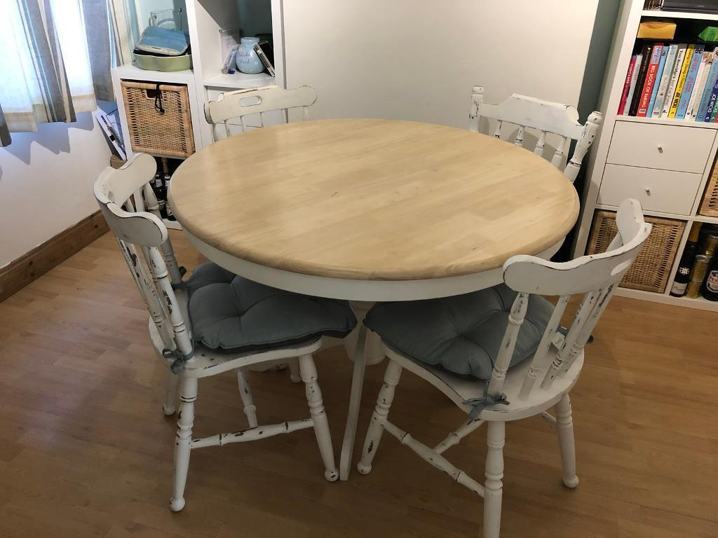 Upcycled Round Dining Table And Chairs In Ipswich