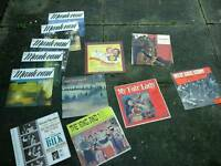 12 vinyl lps,film song themes,West side story,fair lady,king n I etc