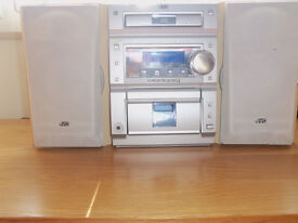 jvc midi system great sound with cd player and radio comes with the remote