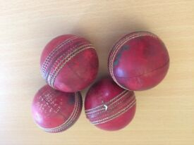 Cricket balls leather x 4