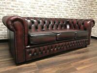 3 Seat Oxblood Chesterfield Club Sofa