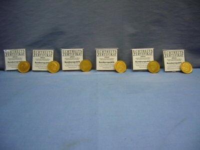 schöne vergoldete 2-Mark-Münzen BRD (60)