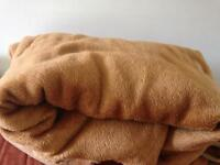 Heavy Ultra Soft Thick and Warm Bed Blanket Dark Cream