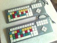 Keytools BigKeys LX Keyboard Color x 2 - PS2 Connection
