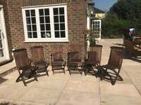 Wooden garden chairs set of 6 java