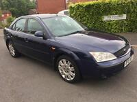FORD MONDEO 2.0 TDDI GHIA X LONG MOT LEATHER SEATS AND SUNROOF ICE COLD A/C 2002