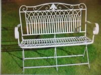 folding metal garden bench brand new unused ideal patio garden seat bench