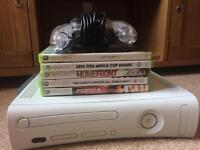 White Xbox 360 With all Cables and Controller Can Deliver