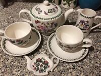 Portmeirion Botanic Garden tea for two set teapot and tea cups