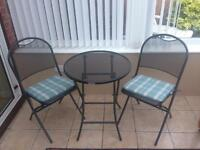 Kettler caffe Napoli table and chairs garden patio set with cushions