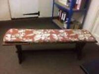 Solid Oak Quality J C Furniture Bench Seat