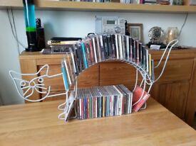 Collectible/Art deco/handmade contemporary metal CD/DVD display storage, Cat design, £20