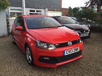 2013 R-LINE SPORT VOLKSWAGEN POLO CAT C REPAIRED STUNNING RED 34K MILES EXCELLENT CONDITION