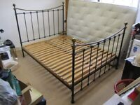 WROUGHT IRON DARK OLIVE GREEN KING SIZE BED - 5FT