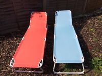 Two sun loungers for sale