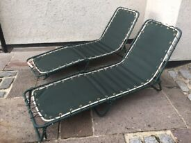 2x good quality outdoor loungers, metal frames. Pick up Bramhope, LS16