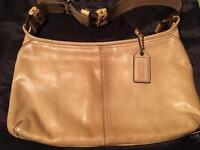 Beige Leather Coach Bag