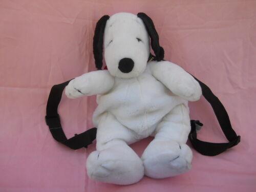 Peanuts Snoopy plush stuffed backpack dog adjustable straps zippered back