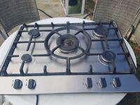 gas hob with 5 burners