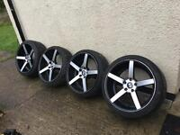 19' 5x120 concave staggered with mint tyres bmw Vw T5