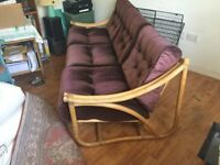 BAMBOO THREE SEATER SOFA in very good condition no stains , tears has always been covered.