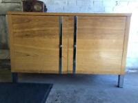 Contemporary modern solid oak sideboard cupboard