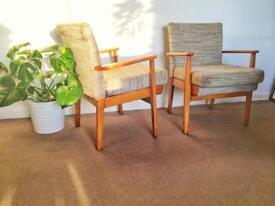 Retro/vintage Parker Knoll armchairs
